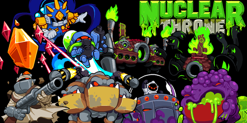 Bosses - Nuclear Throne - Photoshop by Yuzandry