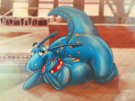 Poolside Dragon (Stuffy) by xTrent968