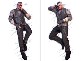 Eddie Gluskin Body Pillow by Cyristal-Artist