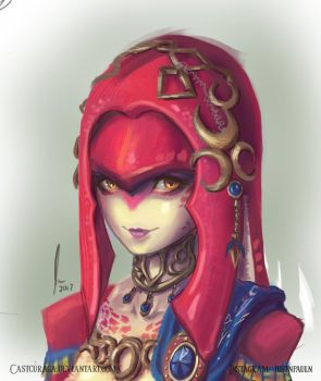 Mipha - Legend of Zelda : Breath of the Wild by castcuraga
