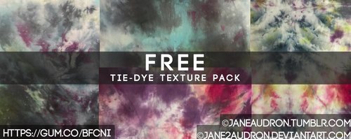 Free Tie Dye Texture Pack by Jane2Audron