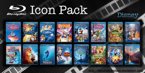 Disney Blu-Ray Cover Icon Pack by thewholehorizon