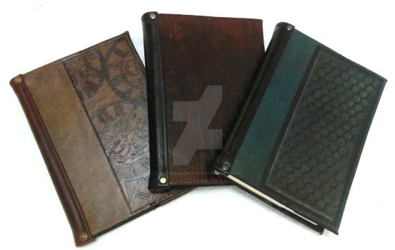 Leather Bound Journals by OfTheGodsBlood