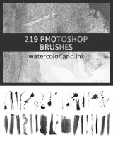 219 Ink and Watercolor Photoshop Brushes by photoshophut