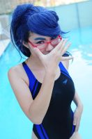 Genderbend Free: Rei-- Do the Megane thing by ensoleilcosplay
