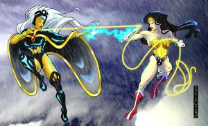 Wonder Woman vs Storm by PatMichael