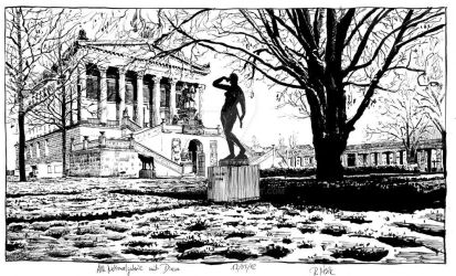 Alte Nationalgalerie with Diana in Winter by RoodyN