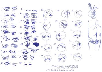 Reference_Sheet:Eyes and Eyeposition_29092014 by RemiLatour