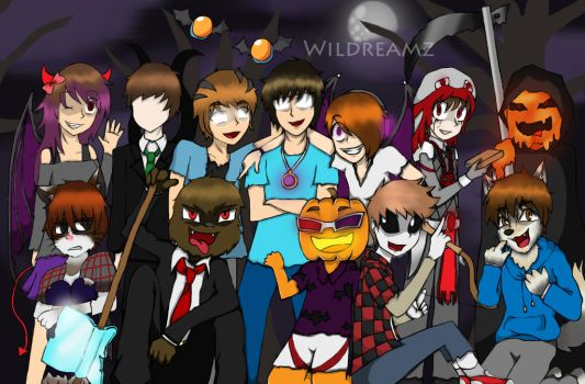 A very MC-Youtuby Halloween by Minccifancutie