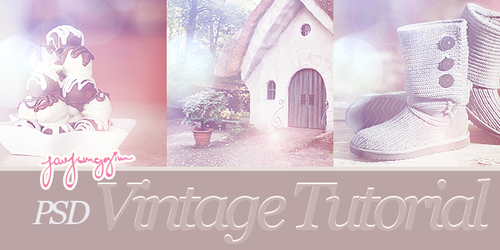 JJ's Tutorial - Vintage PSD by enhancers