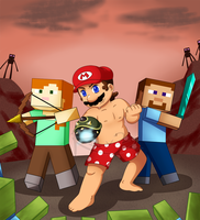 Beware the Shirtless Mario and Co! by RS-V22