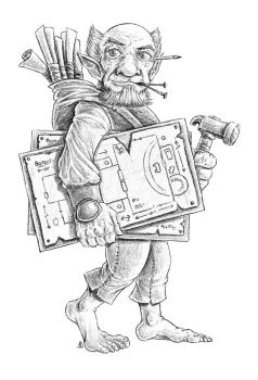 Commission: Gnome, Concept Art by AndrewDeFelice