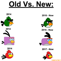 Old Vs. New Rage Birds Picture one by Mario1998