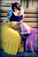 Snow White and Rapunzel by MimiReaves