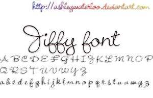 Jiffy font by Waterloo by AshleyWaterloo