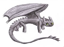 Drawing Toothless  Video on Youtube by GokussjZ34