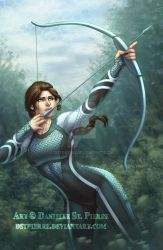Katniss from Catching Fire by DStPierre