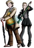 The 7th Doctor and Ace McShane by DynastyGoddess
