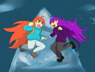 Celeste - Confronting myself by Diusym