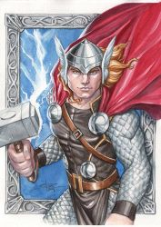 Thor in Watercolor by Sabinerich