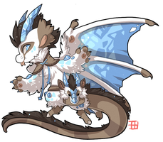 #858 Mythical BB w/m - Winter dragon -FTO DTR by griffsnuff