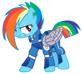 Rainbow Dash is prepared for the War!! by Flutter525