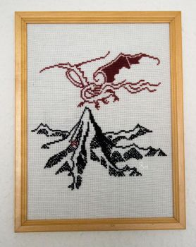 Lonely Mountain Cross Stitch by VolucellaBombylans