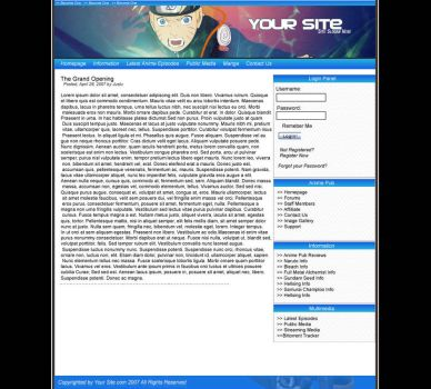 Anime Layout by JustuGFX