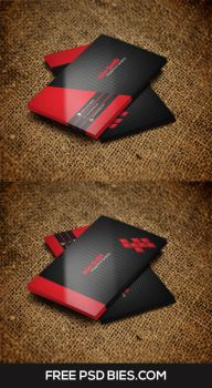 Vibrant Red color Business Card Template by Designhub719