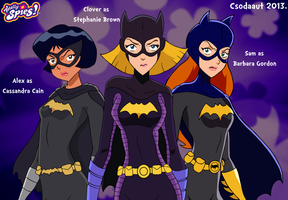 Totally Spies as Gotham's Batgirls by Csodaaut