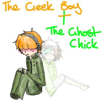 PSWG:Geek Boy and Ghost Chick by Makie-Chu