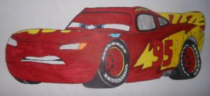 Cars 3 Lightning Mcqueen in his training paint-job by sgtjack2016