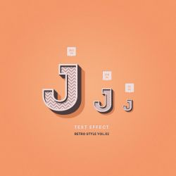 Free Psd Retro Text Effect Vol3 by Pixeden