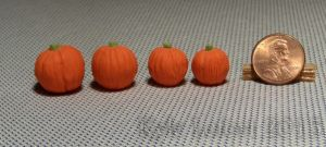 4 One Inch Scale Pumpkins by Kyle-Lefort