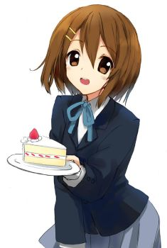 Yui with cake by Chocolate-Choux
