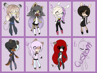 Sonic/Anthro Set price adopts by ShyCookiiee-Adopts