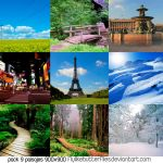 Pack 9 Paisajes by flylikebutterflies