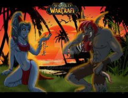 KinJah and Wacca by RukiFox