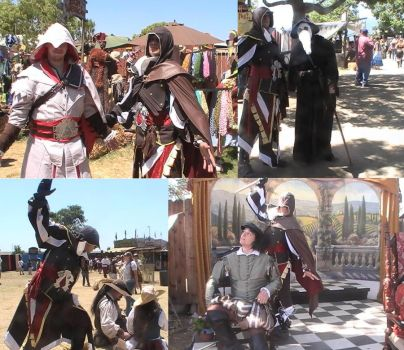 Ezio at the renaissance fair by Vegetanthony