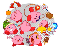Kirby Super Star Doodles (2015) by kokoronis