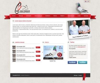 Pigeons - Website layout by Robke22