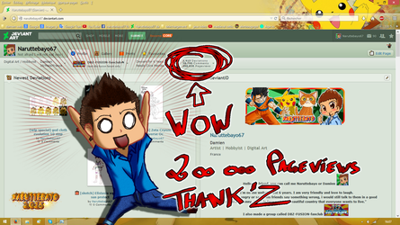 Screen For My 200 000 Pageview Wow by Naruttebayo67