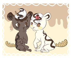 chocolate and vanilla by pomskies