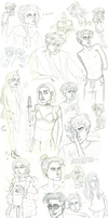 sketchdump #2 (recent kinda) by PearlChelle