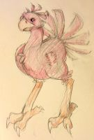 Red chocobo by sunnyzhp22