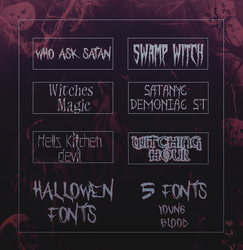 Hallowen Fonts by YoungBlodd