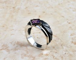 industrial ring -Interrogendum2- black by GatoJewel-DerKater