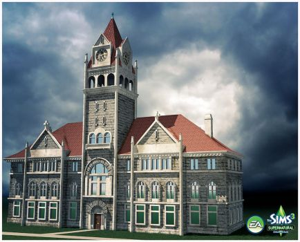 Sims 3: Supernatural Expansion Pack- City Hall by TimothyAndersonArt