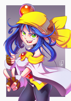 Lime - Saber Marionette J by leocirius