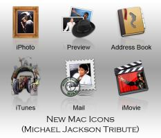New Mac Icons - M.J Tribute by ExtendedCreativity